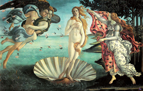 """The Venus Project Classic beauties get a shocking photoshop treatment! Pictured: La Nascita di Venere - Sandro Botticelli Artist Anna Utopia Giordano re-imagines classic artistic depictions of Venus with a modern and extreme Photoshop makeover. Rubenesque beauties are transformed into busty, slim-waisted figures more closely matching the ideals we are bombarded with today. Giordano's reworking of the classics raises a number of questions about the aesthetic standards of our current society and its obsession with almost adolescent figures. She asks, """"What would have happened if the aesthetic standard of our society had belonged to the collective unconscious of the great artists of the past?"""" The results are stark and varied - while some ladies might be bettered by a tug at the waistline and pump to the bust, others may seem almost disturbingly adolescent.  Italy - February 2012 Credit: (Mandatory): WENN.com/DWP_venus_project_140212.DWP_venus_project_02_/1202141515"""